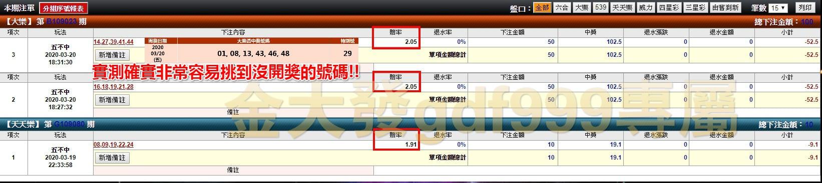 金大發娛樂城彩球不開牌玩法新推出 六合彩,天天樂,今彩539都有